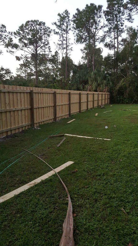 backyard wood fence installation in fort worth